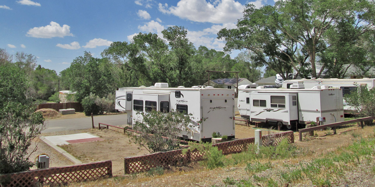 Level campsites at The Travel Camp